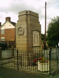 Gobowen war memorial © Selattyn and Gobowen PC, 2012