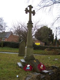 Sheepy Magna war memorial before grant works © Sheepy Parish Council, 2010