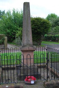 Tiverton war memorial before cleaning © Tiverton and Tilstone Fearnall Parish Council, 2011