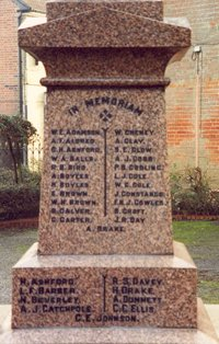 Halesworth war memorial after work © Halesworth Town Council 2003