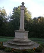 Stoke Albany memorial prior to grant works © Stoke Albany Parish Council, 2010