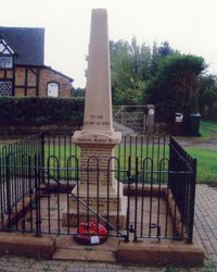 Tiverton war memorial after cleaning © Tiverton and Tilstone Fearnall Parish Council, 2011