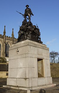 Oldham war memorial after works © Oldham Council 2014