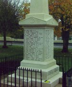 Lakenheath war memorial obelisk © Lakenheath PC, 2009
