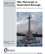 Chelmsford Borough Council war memorial survey July 2011