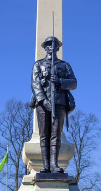 Men of Ilford Town war memorial after cleaning and re-pointing © Borough of Redbridge, 2015