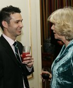 HRH The Duchess of Cornwall with 2009 London Marathon runner Andy Dobson © Paul Burns Photography Ltd 2008
