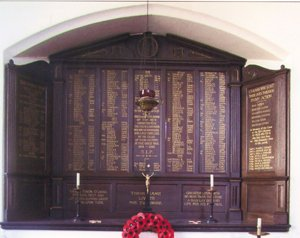 St Barnabas Church war memorial © St Barnabas Parochial Church Council, 2010