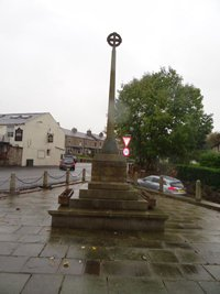 Foulridge memorial cross before works © Foulridge PC, 2014